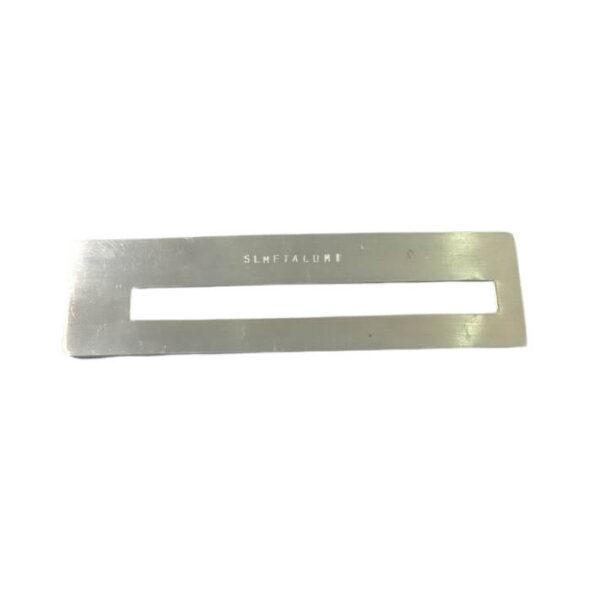 Guia de assinatura feito em alumínio